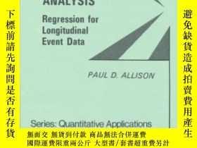 二手書博民逛書店Event罕見History Analysis-事件歷史分析Y436638 Paul D. Allison S