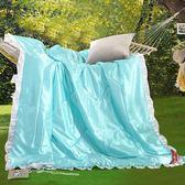 夏天冰絲夏涼被空調被天絲莫代爾夏被夏季單雙人水洗真絲薄款被子 漾美眉韓衣