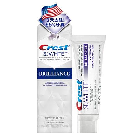 美國 Crest 3D White 專業鑽白牙膏 鑽亮炫白 116g 牙膏 牙齒 牙齒清潔