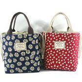 【全館】現折200袋子帆布手提飯盒袋便當包韓國小清新午餐包帶飯媽咪包保溫奶瓶包