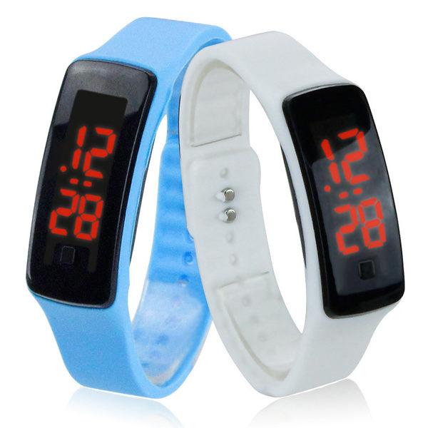 【01140】 鏡面LED手環錶 果凍錶 運動手錶 電子錶