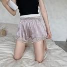 安全褲 安全褲女防走光可外穿薄款寬鬆保險短褲三分打底蕾絲大碼冰絲睡褲-Ballet朵朵