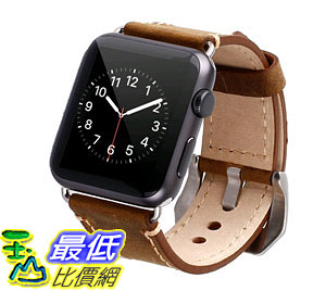 [105美國直購] 蘋果錶帶 42mm iWatch Strap Premium Vintage Genuine Leather Replacement All Apple Watch B011IH9TEQ