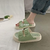 拖鞋 涼拖鞋女夏外穿時尚學生韓版新款百搭厚底運動沙灘鞋
