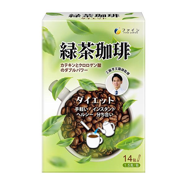 FINE JAPAN綠茶咖啡速纖飲【康是美】