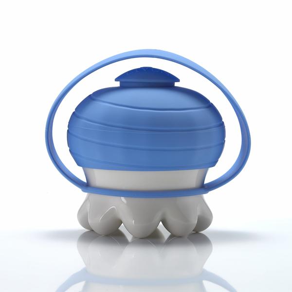 《乾唐軒活瓷》熱波按摩器( 圓足/  白 / 藍提套)