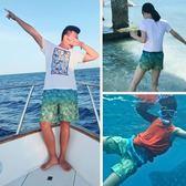 男速干寬鬆大碼平角泳褲度假彈力女海灘褲