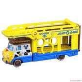 〔小禮堂〕迪士尼 玩具總動員 胡迪 TOMICA小汽車連結運輸車《黃藍》模型.公仔.玩具車 4904810-13471