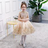 花童公主裙女童演出蓬蓬裙六一兒童表演禮服大童鋼琴主持人演出服  無糖工作室