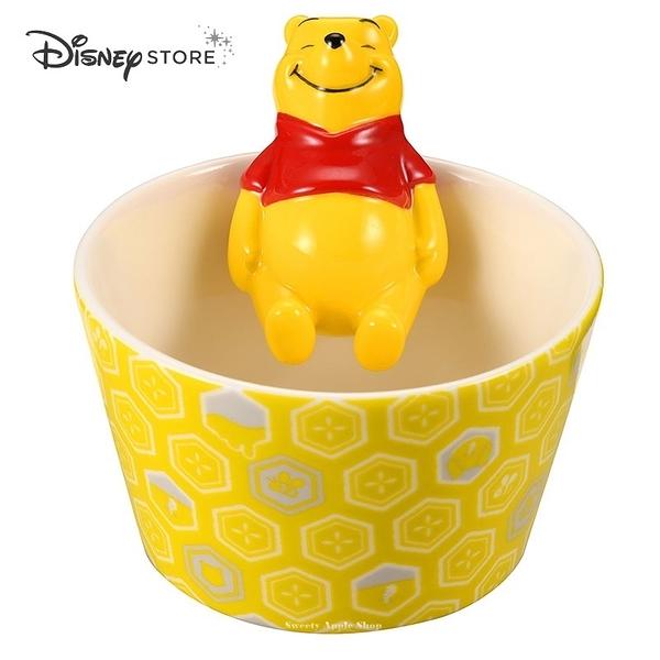 (現貨&日本實拍) 日本 DISNEY STORE 迪士尼商店限定 小熊維尼 WA Table ZAKKA 泡湯杯緣版 小缽陶瓷碗
