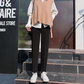 西裝褲女夏直筒寬鬆垂感九分褲正韓顯瘦高腰休閒闊腿cec褲子