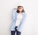 柔軟搖粒絨刺繡立領雙口袋拉鍊外套 (水藍 粉紅 藏青)三色售  (M8FW) 11722012