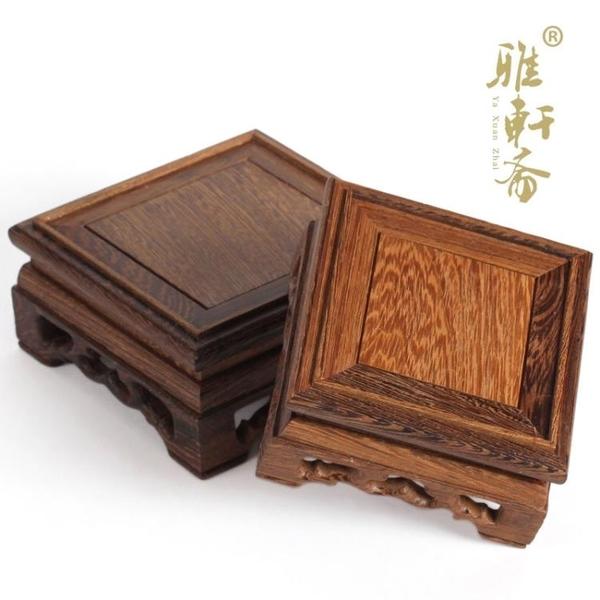 [超豐國際]紅木奇石底座挖槽 實木石頭印章 雞翅木紫砂壺套三1入
