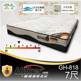 客約商品 德國優客名床 進口布天然乳膠雙層波浪獨立筒床墊 7尺雙人(GH-818)