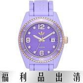 【台南 時代鐘錶 Adidas】愛迪達 ADH2938 造型矽膠腕錶 紫 41mm 公司貨開發票