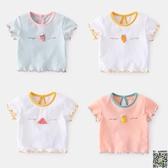 短袖 寶寶短袖T恤夏季嬰幼兒上衣夏薄款女1歲兒童衣服洋氣女童棉質夏裝 4款