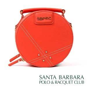 聖大保羅SANTA BARBARA POLO南十字星圓形包/珊瑚紅