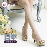 《PIEDO》日本製高雅蕾絲透膚造型彈性絲襪褲襪 黑色 膚色