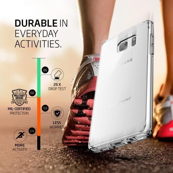 【贈9H玻璃保貼】Spigen SGP 三星 Galaxy note7 Ultra Hybrid 透明背蓋邊框 保護殼