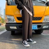 西裝褲春季素色直筒休閒長褲男士寬鬆闊腿韓版垂感港風bf休閒百搭西裝褲 伊羅 新品