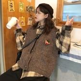 秋裝新款復古港風寬鬆針織背心馬甲時尚套裝女裝兩件套ins潮 雅楓居