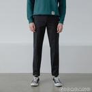 【GIORDANO】男裝彈力斜紋棉窄管卡其褲 - 09 標誌黑