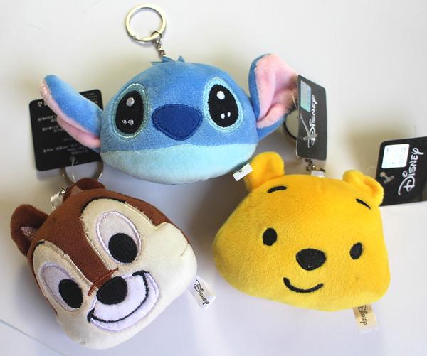【卡漫城】 迪士尼 玩偶 吊飾 三選一 ㊣版 鑰匙圈 絨毛娃娃 掛飾 史迪奇Stitch 奇奇Chip 小熊維尼Pooh