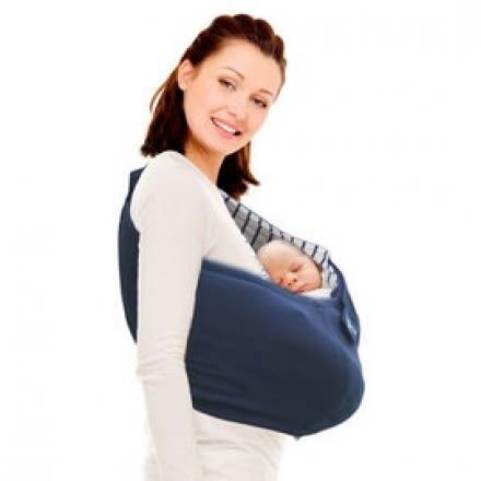荷蘭 wallaboo Sling 限定款明星袋鼠背巾-海軍藍條紋