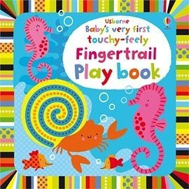 【麥克書店】BABYS VERY FIRST TOUCHY-FEELY FINGERTRAIL PLAY BOOK /硬頁觸摸書