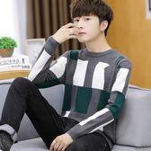 毛衣男韓版潮流學生秋冬季圓領線衣修身個性青少年帥氣打底針織衫