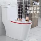 創新彩色坐便蓋加厚脲醛樹脂馬桶蓋通用老式馬桶圈配件家用廁所板 夢娜麗莎
