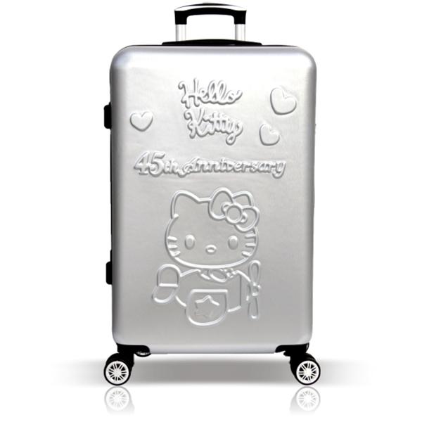 45週年Hello Kitty 19吋輕旅行登機箱/行李箱-銀