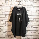 【新年鉅惠】夏季中長款短袖t恤男女情侶裝2018新款連帽半袖蝙蝠衫韓版學生潮