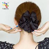 簡約荷葉邊布兜盤髮髮網 日韓酒店空姐職業網兜頭花髮夾髮飾-享家生活館