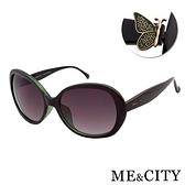 【南紡購物中心】【SUNS】ME&CITY 歐美質感蝶飾太陽眼鏡 精品時尚款 抗UV(ME 1206 J01)