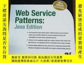 二手書博民逛書店Web罕見Services Patterns: Java Edi