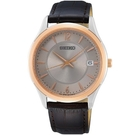 SEIKO 精工 時尚大三針腕錶 6N52-00D0H _ SUR422P1