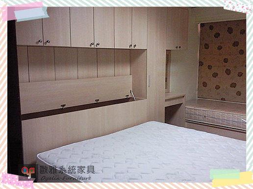 【歐雅系統家具】優雅淺木色衣櫥櫃 化妝梳妝台 烤漆玻璃推拉門