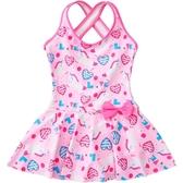 優一居 兒童泳衣女童韓版連體公主裙式寶寶可愛游泳衣女孩泡溫泉泳裝