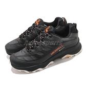 Merrell 戶外鞋 Moab Speed GTX 黑 橘 男鞋 透氣 越野 休閒鞋 運動鞋 【ACS】 ML066769