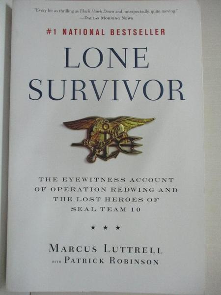 【書寶二手書T1/原文書_IE9】Lone Survivor: The Eyewitness Account of Operation…