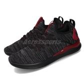 Puma 訓練鞋 Ignite Flash EvoKNIT 黑 紅 男鞋 運動鞋 針織鞋面 【PUMP306】 19050822
