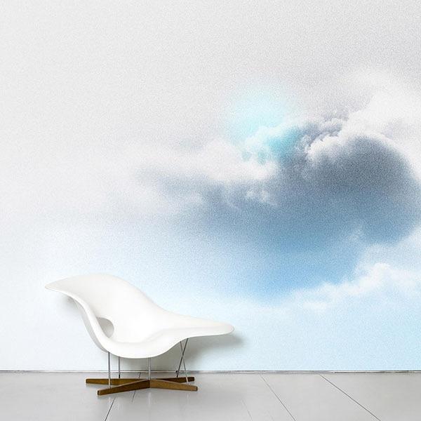 【進口牆紙】Domestic【訂貨單位372cm×3m/套(一套八張壁板)】雲法國Ciel - floccus Benjamin GraindorgeNDL045