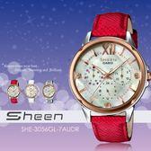 【人文行旅】Sheen | SHE-3056GL-7AUDR 個性甜美 37mm 晶鑽 珍珠貝