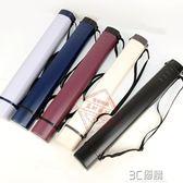 裝字畫的畫筒方形畫桶紙筒收納可伸縮收縮塑料畫紙筒海報筒收藏筒 3C優購HM