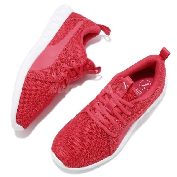 Puma 慢跑鞋 Carson 2 Wns 粉紅 紅 白 女鞋 輕量透氣 基本款 運動鞋【ACS】 19003805