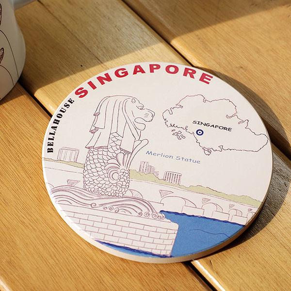 神奇吸水杯墊~新加坡 魚尾獅