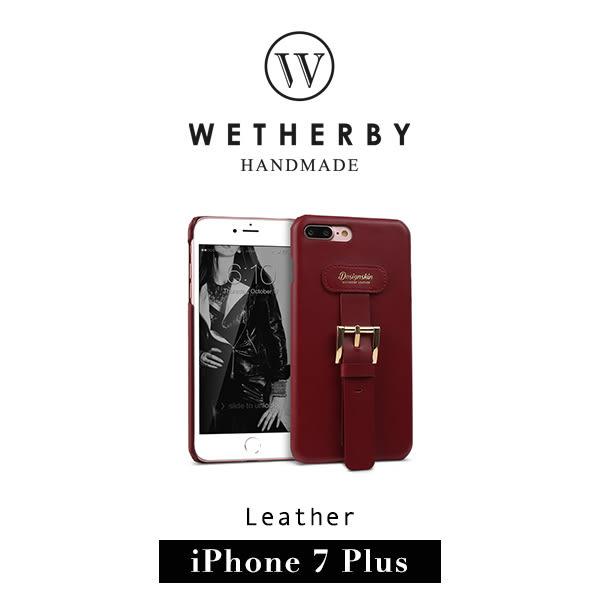 【G2 STORE】WETHERBY BUCKLE BARTYPE iPhone 7/8 Plus 5.5吋 手工製作 真皮 背蓋 保護殼 - 紅