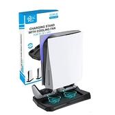 [2美國直購] CXZ 垂直支架 雙手把充電 降噪風扇 USB充電口 適用Playstation 5 光碟版&數位版
