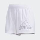 【雙12折後$1380】ADIDAS LOGOSHORTS 愛迪達 短褲 慢跑 健身 口袋 白 女款 GJ9025